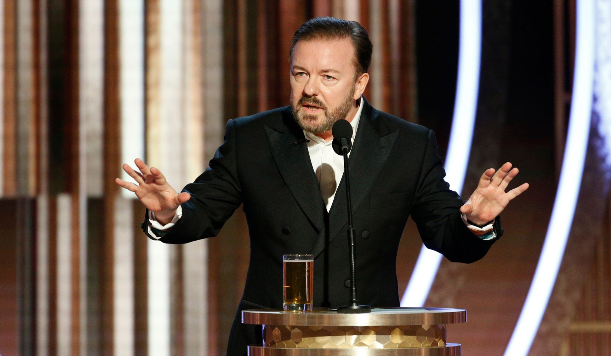 Ricky Gervais' Hilarious Roast Of Celebrities At Golden Globes