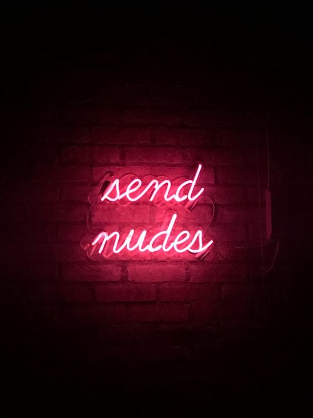 Send nudes neon sign
